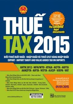 Thuế - Tax 2015 (Song Ngữ Anh - Việt)