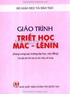 Giáo Trình Triết Học Mác-Lênin - Tái bản 08/06/2006